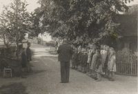 The school in Hynčice nad Moravou before the Second World War