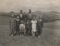 Anna Matysová (Kršková) with siblings Herta and Kurt on the vacation in Germany in 1938