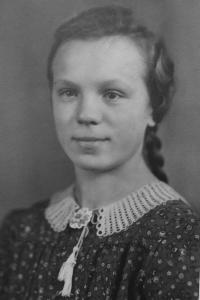Anna Matysová (Kršková) in her youth