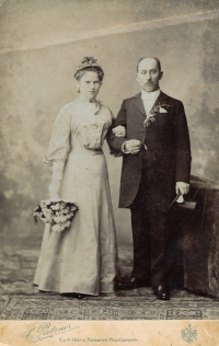 Josef and Josef Flieger – her grandmother and grandfather from Lysá nad Labem, 1885