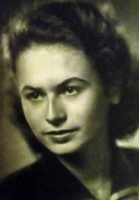 Radka Křivánková na dobové fotografii