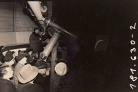 Tomáš Pertile while observing a partial solar eclipse in the public observatory, Ostrava, 1961
