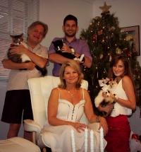 Rodina Berky - z ľava do prava: Albín, Júlia, Richard, Jacqueline