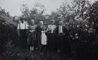 The family in Hynčice nad Moravou