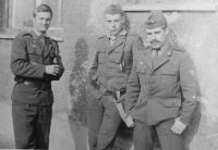 Stanislav Stojaspal (in the middle) in the military service in Prešov