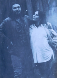 Stanislav Stojaspal with his first wife Marcela