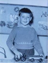 Stanislav Stojaspal in his childhood
