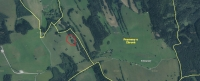 There is a place where the Krusch family was murdered in Štolnava, marked in the red circle. The current aerial map