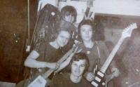 Zábřeh music band Venus. Jan Habiger, Vlastiml Lokr, Jaroslav Vojtek and Stanislav Stojaspal.