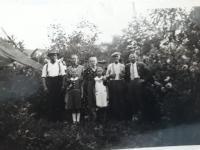 From the left: Josef Matys, Anna Matysova, Brigita Filip, someone and Emil Filip