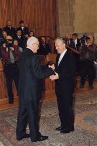 Při jmenování profesorem teologie v pražském Karolinu, 31. 10. 2008