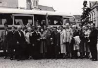 From a trip of the Ostrava Astronomical Club to Kroměříž, 1958