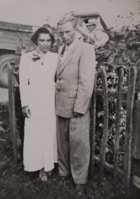 With her husband Jevgen