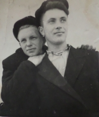 The husband Jevgen with his friend