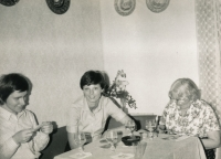 The witness with granny and sister in the second half of 1970s