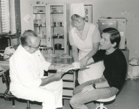 Witness and mummy - a nurse - around 1985