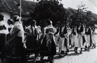 Jiří Langer / putování 1957 / folklorní festival ve Strážnici