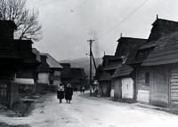 Jiří Langer / putování 1957 / vesnice Hruštín na Oravě / Slovensko
