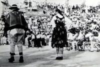 Jiří Langer / putování 1957 / folklorní festival ve Východné / Slovensko