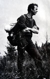 Jiří Langer / s dcerou Hanou na Kubínských holích / počátek 60. let / Slovensko