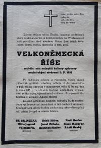 Jiří Langer / plakát z konce války / Praha / květen 1945