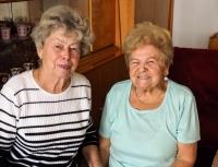 Mrs. Fabiánová (right) and her sister-in-law Jindřiška (left)