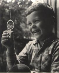 A photo taken by his father Václav Novák
