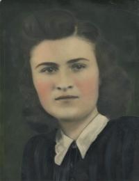 Viera Šagátová in her youth