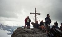 V Alpách na vrcholu Rastkogel – vpředu V. Náhlíková (r. 2010)