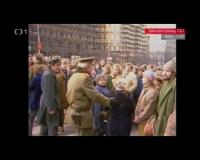 Palachův týden, Václavské náměstí – zcela vpravo Věra a Petr Náhlíkovi (15. 1. 1989)