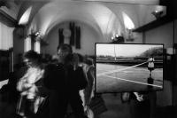 Vernisáž výstavy Slavnostní zahájení, galerie Fotochema, 1987