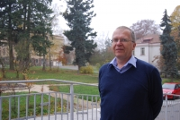 PhDr. Petr Goldmann in the area of the Bohnice hospital