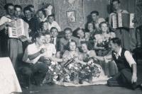 youth having fun on 13 September 1942 in Plešev in Poland