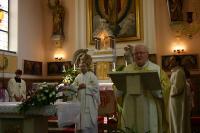 P. Adamec 16. 7. 2006 v Římskokatolické farnosti Vacenovice při oslavě 60 let kněžství.