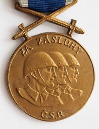 Commemorative medal For Merit Republic of Czechoslovakia