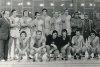 A match in the Czech Cup, Michal playing for Slavia. 1974