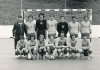 The national junior team of Prague at a tournament in Switzerland. The tournament was happening at the same time as the entrance exams for the university but Michal Barda was accepted without them. 1974