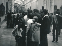 Visit of the Louvre in Paris. End of 1975/beginning of 1976