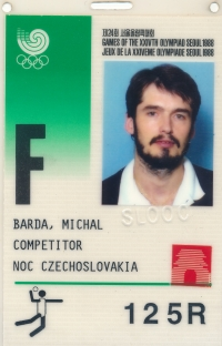 Accreditation card from the 1988 Olympic Games in Seoul, South Korea