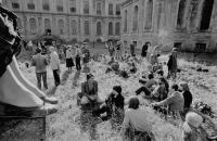 Vernisáž výstavy 9&9 v klášteře Plasy, 1981