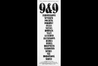 Plakát výstavy 9&9 v klášteře Plasy, autor: Joska Skalník, 1981