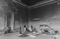 Instalace výstavy 9&9 v klášteře Plasy, 1981