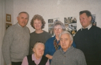 Marianne with her husband and relatives