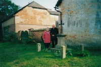 Renovation of the cross in Horní Polžice (year 2002)