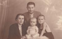 Father František, mother Alžběta, son Jiří and little Gustav