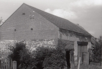 The barn before reconstruction