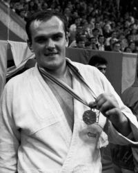 Vladimír Kocman with his bronze medal from the Moscow 1980 Olympic Games