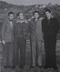 Václav Martínek together with classmates before or after graduation, 1946