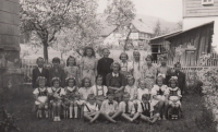 8th class, spring 1946 (Miloslava Medová in the top row, fourth from the left)