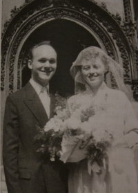 Wedding of Václav and Jitka Martíneks in 1957